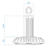 LED High bay 200W 4000K IP65 150lm/W Powered by Philips 50.000 branduren en 5 jaar garantie