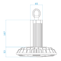 LED Highbay 150W Dimmable 6000K IP65 150lm/W 120° 5 year warranty