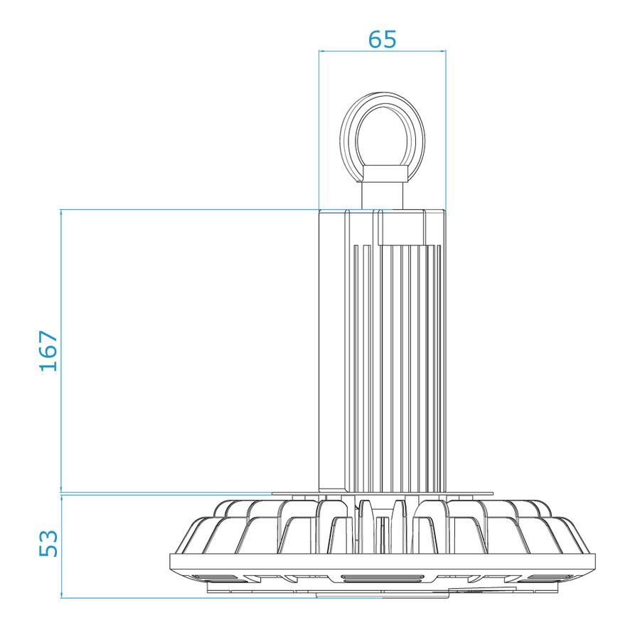 LED High bay 150W 6000K IP65 150lm/W Powered by Philips 50.000 Brennstunden und 5 Jahre Garantie