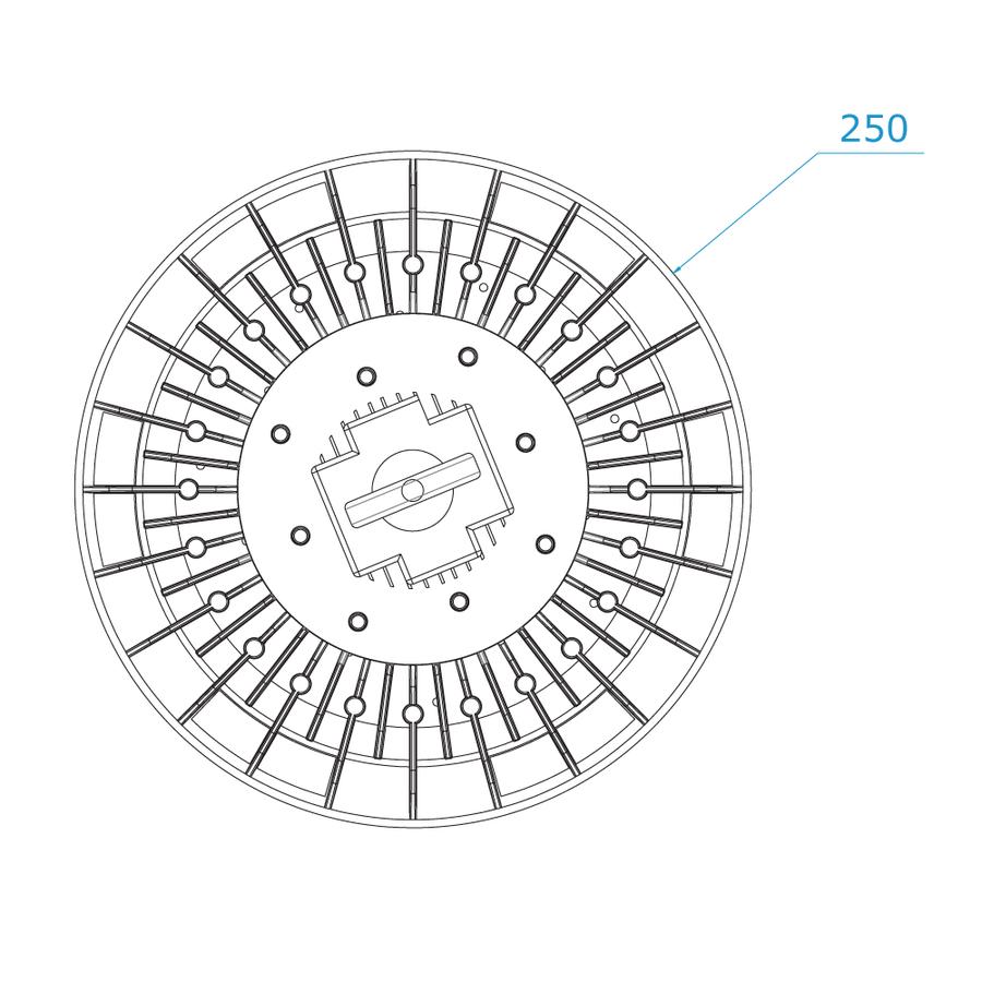 LED Highbay 100W dimmbar 6000K IP65 150lm/W 120° 5 Jahre Garantie