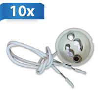 GU10 fitting white 10 Pieces