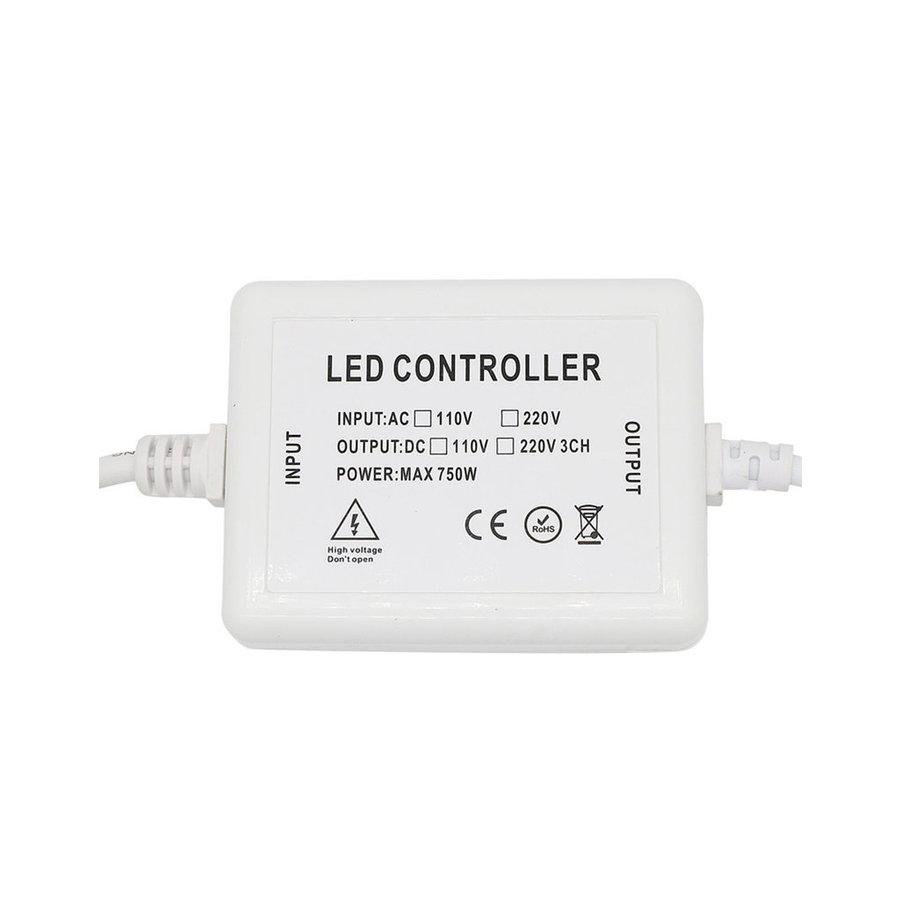 LED Lichtslang RF dimmer incl. afstandsbediening geschikt voor enkelkleurige LED Lichtslang