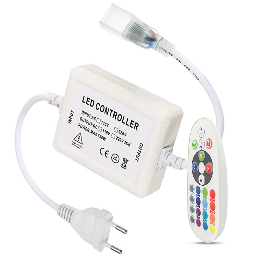 RGBW RF LED controller incl. Multicolor Remote control Plug & Play