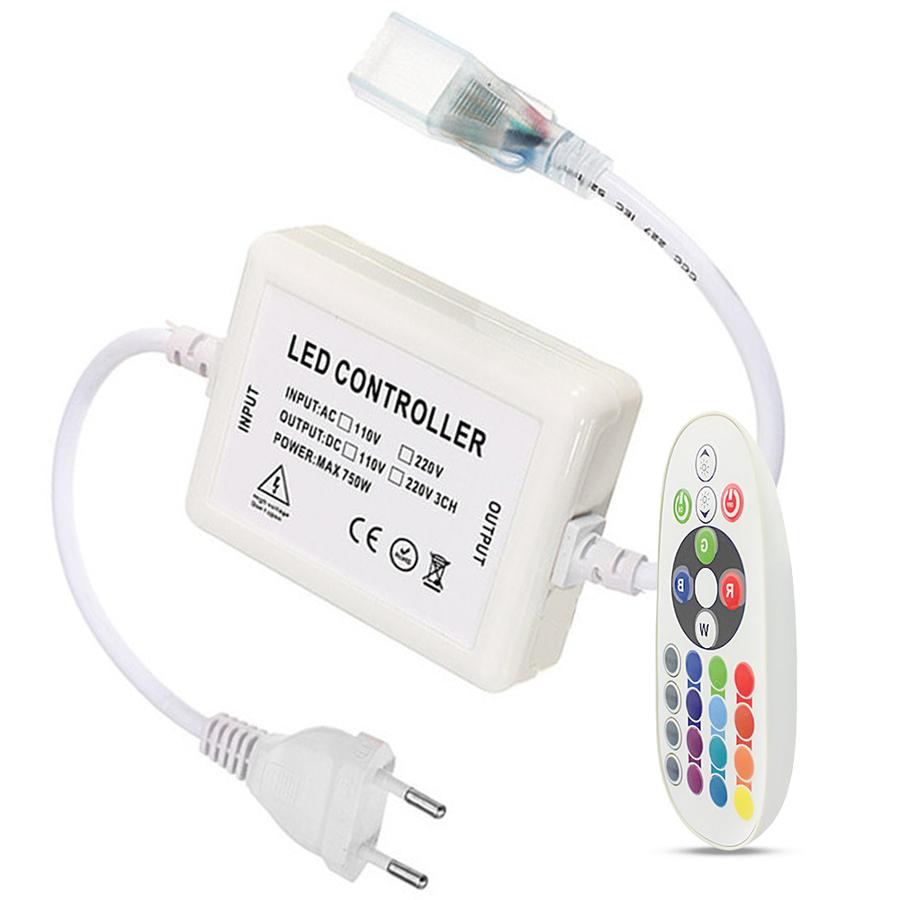 RGB LED Lichtslang RF dimmer incl. afstandsbediening geschikt voor RGB LED Lichtslang