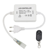 INTOLED LED Lichtslang 230V RF dimmer Plug & Play incl. afstandsbediening met snoer en stekker (t.b.v. éénkleurige lichtslangen)