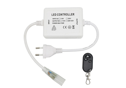 INTOLED LED Light hose RF dimmer incl. Remote control cable and plug