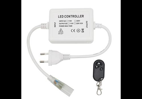 LED Lichtslang 230V RF dimmer Plug & Play incl. afstandsbediening
