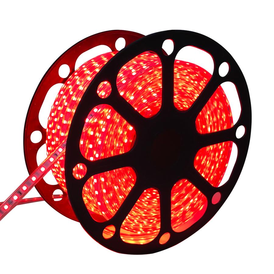 LED Lichtslang 50 meter Rood 60 LEDs per meter IP65 incl. netsnoer Plug & Play