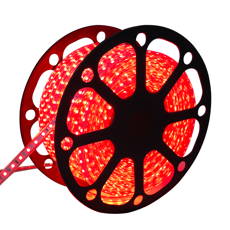 LED Light hose 50 meters Red 60 LEDs per meter IP65 incl. power cable Plug & Play