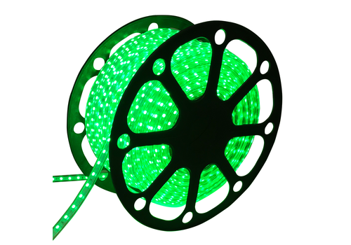 LED Light hose flat 50m color Green 60 LEDs/m IP65 Plug & Play