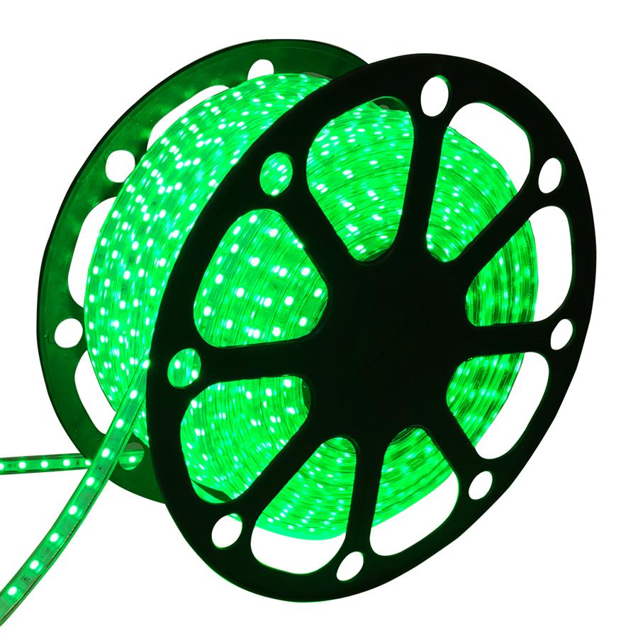 LED Lichtslang plat 50m kleur Groen 60 LEDs/m IP65 Plug & Play per 1m in te korten