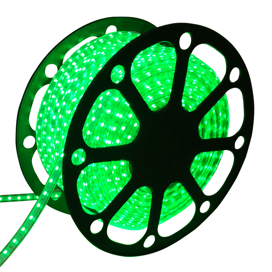 LED Light hose 50 meters Green 60 LEDs per meter IP65 incl. power cable Plug & Play