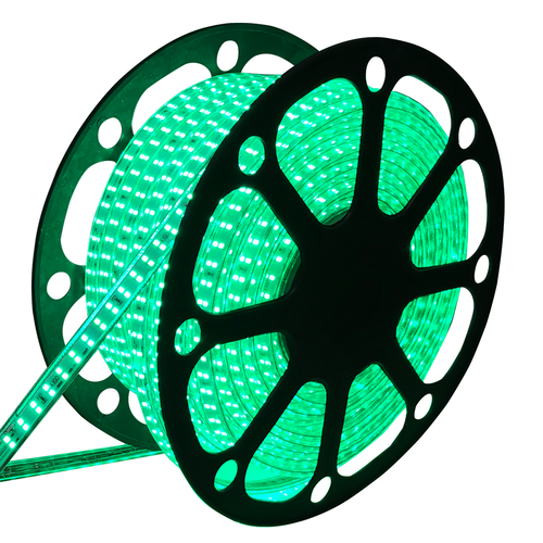 LED Lichtschlauch flach 50m Farbe grün 180 LEDs/m IP65 Plug & Play schnitt pro Meter