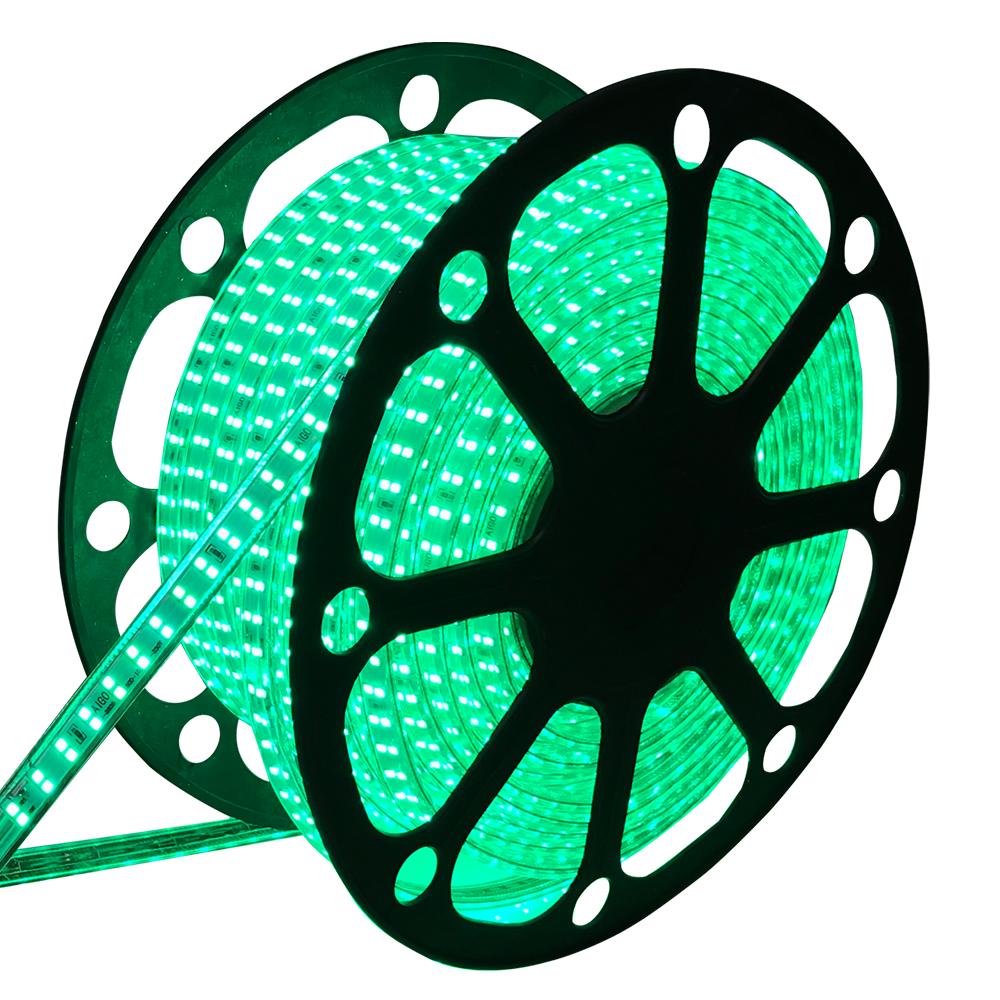 LED Lichtslang plat 50m kleur Groen 180 LEDs/m IP65 Plug & Play