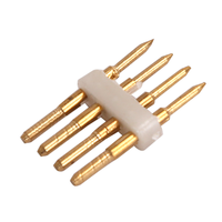 4-pins Standaard LED Lichtslang verbinder recht 10 Stuks - RGB