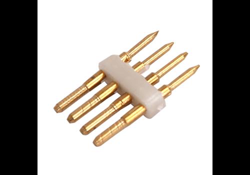 Aigostar 4-poliger Standard LED-Lichtschlauchverbinder 10 Stück - RGB