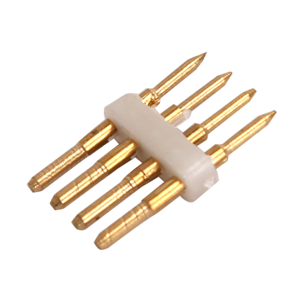 4-pins Standaard LED Lichtslang verbinder recht 10 Stuks - RGBW