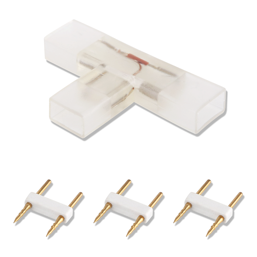 2-pin waterproof T-corner connector per 10 pieces - 2835 / 180 LEDs