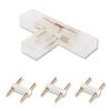 Aigostar 2-pins waterdichte T-connector per 10 Stuks - 5050 / 60 LEDs