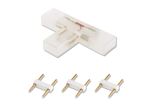 Aigostar 2-pins waterdichte T-connector per 10 Stuks voor 60 LEDs
