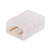 Aigostar 2-pins waterdichte connector 10 stuks (één kleur) niet geschikt voor RGBW - 5050 / 60 LEDs
