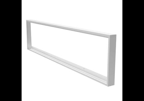 INTOLED Opbouwframe voor LED panelen 30 x 120 cm kleur wit