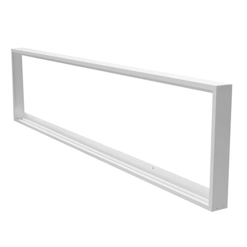 Aufputzrahmen für 120 x 30 cm LED-Panels, Farbe Weiß