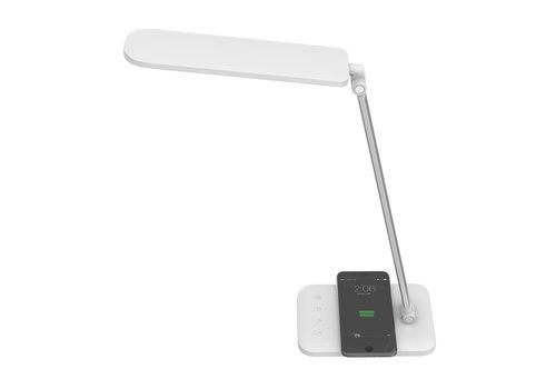 LED Tischleuchte 7 Watt mit drahtlosem Ladegerät 3 in 1 weiß Farbtemperatur