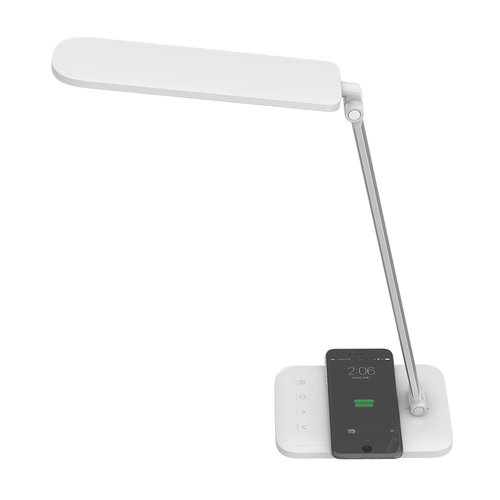 V-TAC LED Table Lamp 7 Watt with wireless charger 3-in-1 white color temperatures