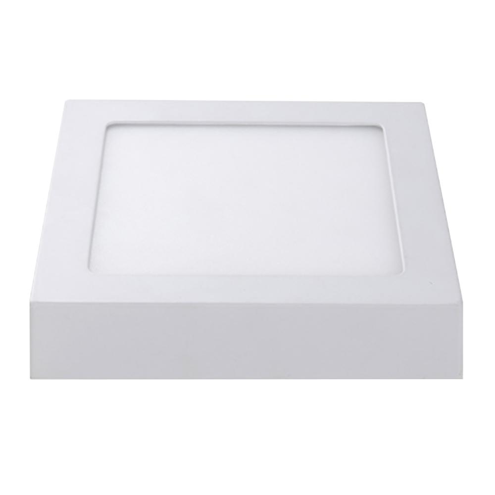 LED Plafonni�re Vierkant 12 Watt 4000K 750lm - Opbouw plafondlamp