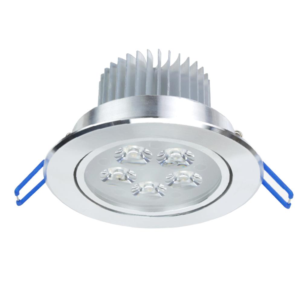 LED Inbouwspot 7 Watt Zilver 3000K 700lm