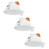 Aigostar Komplettset mit 3 LED Einbaustrahler Convexo 7 Watt 3000K IP44 Weiß