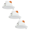 Complete set of 3 pieces LED Downlight Convexo 7 Watt 3000K IP44 White