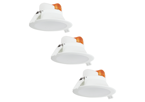 Complete set of 3 pieces LED Downlight Convexo 7 Watt 3000K IP44 White