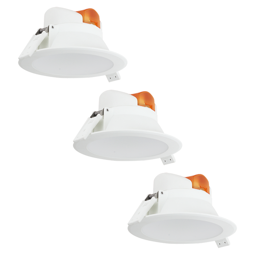 Aigostar Complete set of 3 pieces LED Downlight Convexo 7 Watt 3000K IP44 White