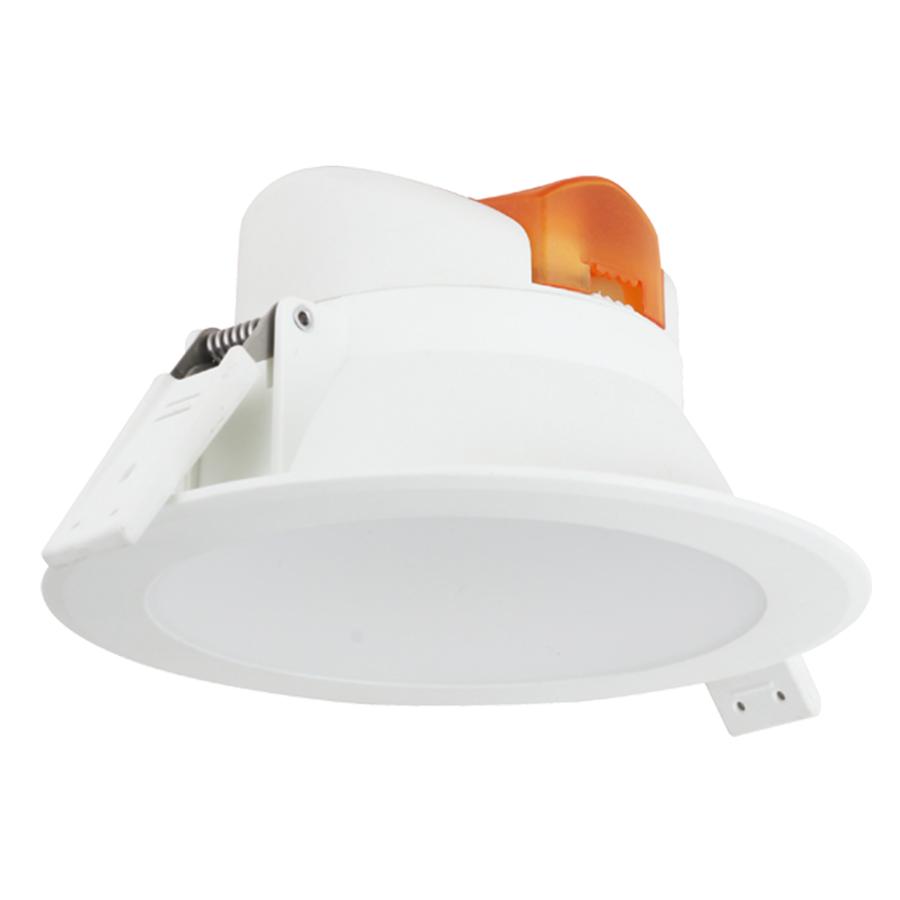 Komplettset mit 6 LED Einbaustrahler Convexo 7 Watt 3000K IP44 Weiß