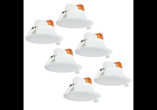 Aigostar Complete set met 6 stuks LED Inbouwspot Convexo 7 Watt 3000K IP44 Wit