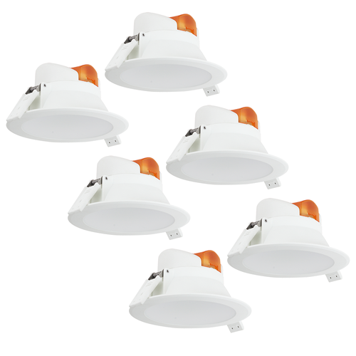 Complete set of 6 pieces LED Downlight Convexo 7 Watt 3000K IP44 White