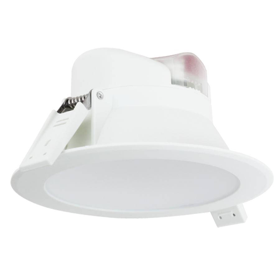 Komplettset mit 3 LED Einbaustrahler Convexo 7 Watt 4000K IP44 Weiß