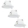 Complete set of 3 pieces LED Downlight Convexo 7 Watt 4000K IP44 White