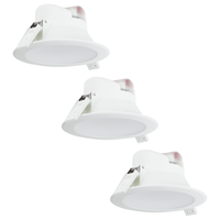 Complete set of 3 pieces LED Downlight Convexo 7 Watt 4000K IP44 White