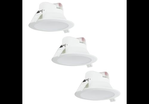 Aigostar Complete set met 3 stuks LED Inbouwspot Convexo 7 Watt 4000K IP44 Wit