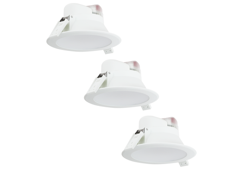 Aigostar Complete set of 3 pieces LED Downlight Convexo 7 Watt 4000K IP44 White
