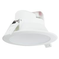 Komplettset mit 6 LED Einbaustrahler Convexo 7 Watt 4000K IP44 Weiß