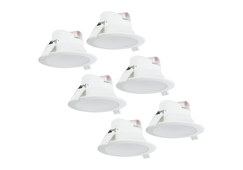 Aigostar Complete set of 6 pieces LED Downlight Convexo 7 Watt 4000K IP44 White