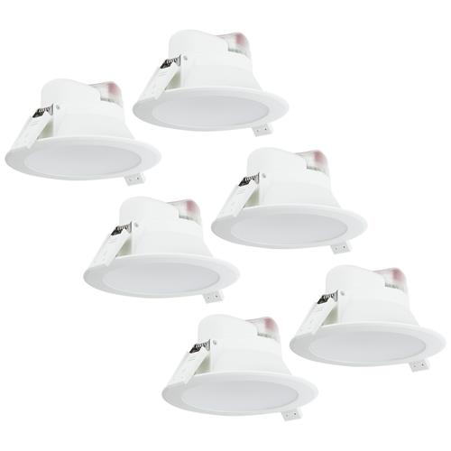 Aigostar Complete set met 6 stuks LED Inbouwspot Convexo 7 Watt 4000K IP44 Wit