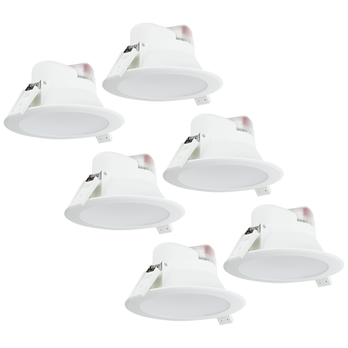 Complete set of 6 pieces LED Downlight Convexo 7 Watt 4000K IP44 White