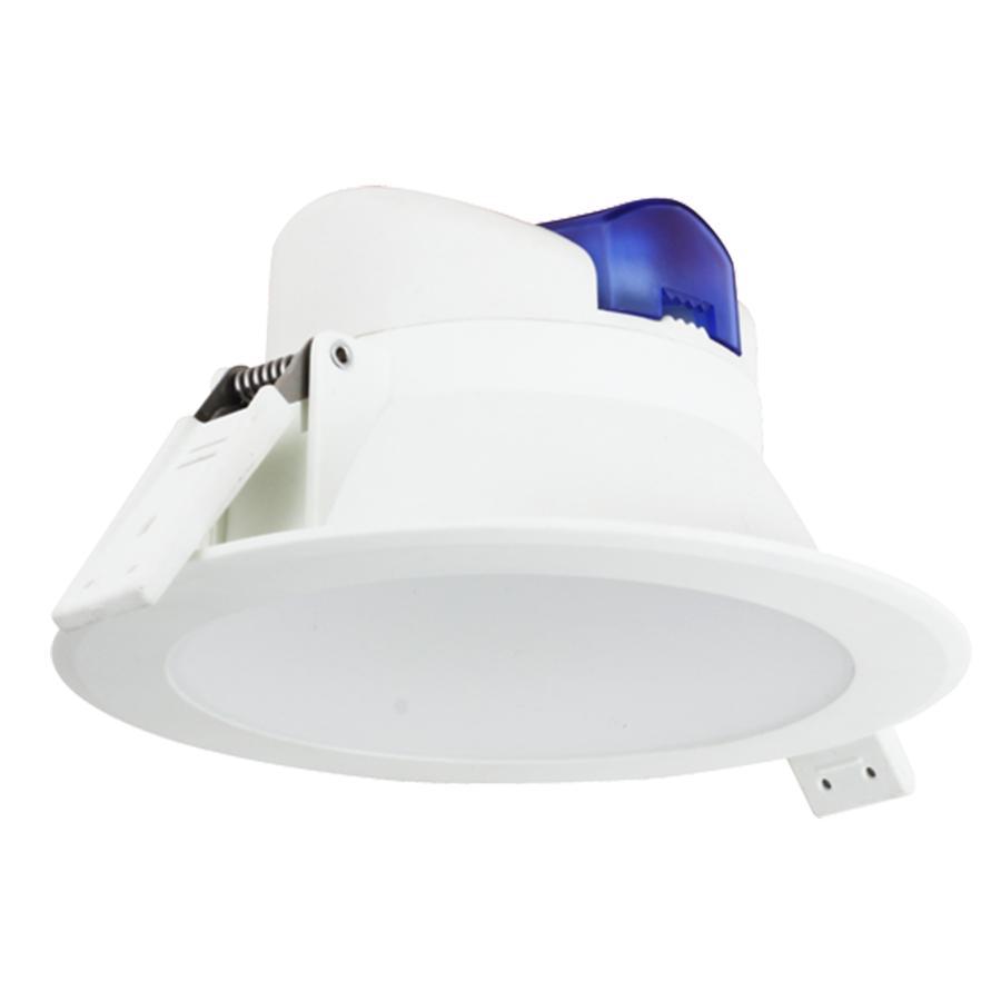 Komplettset mit 3 LED Einbaustrahler Convexo 7 Watt 6000K IP44 Weiß