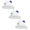 Aigostar Komplettset mit 3 LED Einbaustrahler Convexo 7 Watt 6000K IP44 Weiß