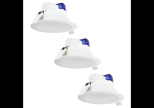 Aigostar Complete set met 3 stuks LED Inbouwspot Convexo 7 Watt 6000K IP44 Wit
